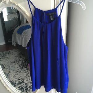 Forever 21 Royal Blue Sleeveless Blouse Size M